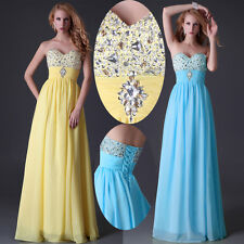Strapless Beaded Hot Sexy Evening Party GraceKarin JS Prom Bridesmaid Long Dress