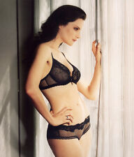 Chantelle Chantilly Glamour Black Mesh Short - Made in France - 3034