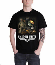 Sniper Elite Collage Official Mens New Black T Shirt All Sizes