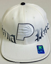 NBA Indiana Pacers Adidas Structured Flat Brim Flex Fit Cap Hat NEW RARE