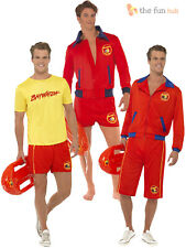 Mens Baywatch Lifeguard Sports Uniform Fancy Dress 90S Tv Stag Party Costume