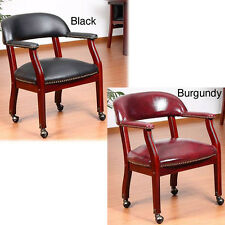 Aragon Captain's Guest Arm Chair with Casters