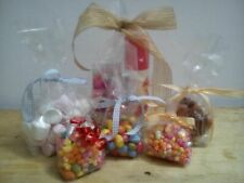 CLEAR CELLOPHANE CELLO GUSSET BAGS GIFTS SWEETS PARTY DISPLAY *MANY SIZES*