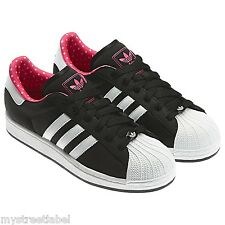 ADIDAS ORIGINALS LADIES WOMENS SUPERSTAR 2 BLACK TRAINER SHOES UK SIZE 3.5 4 4.5
