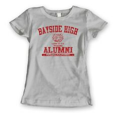 BAYSIDE HIGH ALUMNI cool funny retro tv show school costume WOMENS T-Shirt GRAY