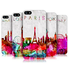 HEAD CASE WATERCOLOURED SKYLINE PROTECTIVE COVER FOR APPLE iPHONE 5 5S