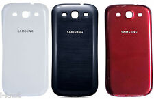 Genuine Samsung Galaxy S3 III GT-i9300 Battery Back Cover Rear Cover White Red