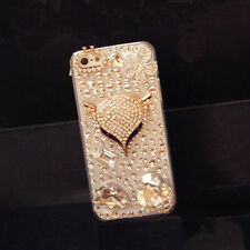 2014 Luxury Bling Crystal Diamond Fox Hard Case Cover For Samsung Galaxy Iphone