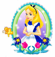 "5-8.5"" ALICE IN  WONDERLAND  WALL SAFE STICKER CHARACTER BORDER CUT OUT"