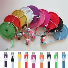 3/6/10FT Micro USB Flat Noodle Charger Cable Cord for HTC Samsung Galaxy S4 S3