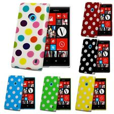Polka Dots Gel Skin Case Cover For Nokia lumia 520 & Screen Protector & Stylus