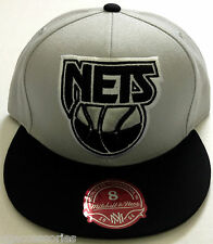 NBA Brooklyn Nets Mitchell and Ness XL Logo Fitted Cap Hat M&N