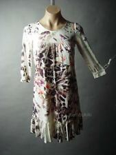 Vtg-y 60s 70s Floral Animal Chain Print Frill Ruffle Hem Shift 25 mv Dress S M L