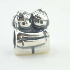 Sterling Silver European Charm Little Sisters Sis Hugging Bead 88343