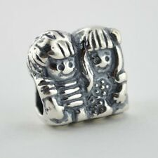 Sterling Silver European Charm Little Boy Brother Little Girl Sister Bead 88143