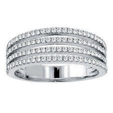 14k White Gold 1ct TDW Diamond 4-row Pave Ring (F-G, SI1-SI2)