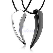 1Pc Alloy Applied Men Titanium Wolf Tooth Pendant Jewelry Necklace Gift