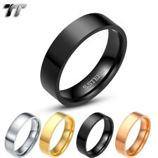 TT 6mm Plain Flat Mirror Polished Stainless Steel Wedding Band Ring R113
