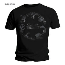 Official T Shirt GAME OF THRONES Black SILVER SIGAL Houses All Sizes