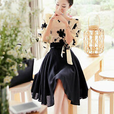 Occident Lady Stylish Chiffon  Club Evening Party Tops Skirt Knee-Length Dress