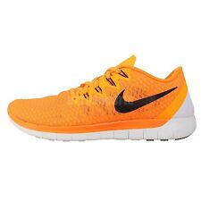 Nike Free 5.0 Swift Orange Black 2014 New Barefoot Mens Running Jogging Shoes