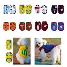 2014 World Cup Soccer Football Jersey Shirt Tee Pet Puppy Small Dog Cat clothes
