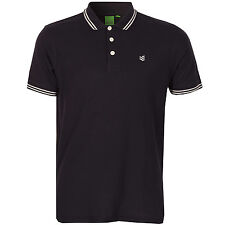 Gio-Goi Mens Plain 9 Tipped Polo Shirt In Navy From Get The Label PP1