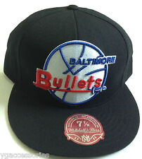 NBA Baltimore Bullets Throwback Mitchell and Ness XL Logo Vintage Cap Hat M&N