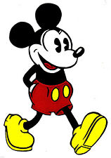 """6.5-11"""" DISNEY CLASSIC MICKEY MOUSE CHARACTER WALL SAFE STICKER  BORDER CUT"""