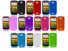 for HTC One VX Soft Silicone Flexible Rubber Gel Cell Phone Skin Case Cover AT&T