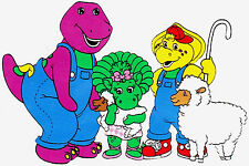 "7-10.5"" BARNEY ON FARM BABY BOP BJ WALL STICKER GLOSSY BORDER CHARACTER CUT OUT"