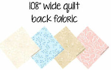 """Fabric 108"""" Wide Quilt Back Assorted Vendors BTY new floral vine scroll"""