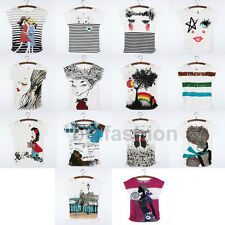2014 Hot Fashion Women's Korean Short Sleeve Loose Casual T-Shirt Summer Tee Top