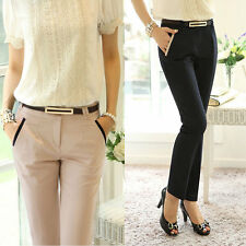 Womens Casual Skinny Slim Pencil Pants Slim Business Career Office OL Trousers
