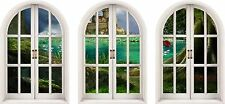 Huge 3D Arched Window Enchanted Castle View Wall Stickers Mural Art Decal