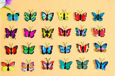 3D Beautiful mixed colors refrigerator jewelry wholesale Small Butterfly Magnets