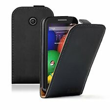 Vertical Leather Flip Case Cover Pouch for Mobile Phone Motorola Moto E / XT1021