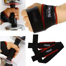 Gym Weight lifting Training Workout Wrist Wrap Dumbbell Grip Exercise Straps