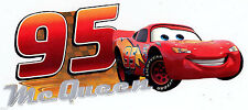 "7-11"" DISNEY CARS MCQUEEN CHARACTER WALL STICKER GLOSSY BORDER CUT OUT"