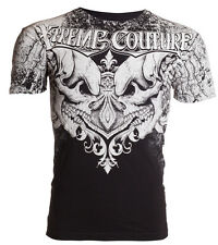 Xtreme Couture AFFLICTION Mens T-Shirt LEGENDARY Skulls BLACK Biker MMA UFC $40