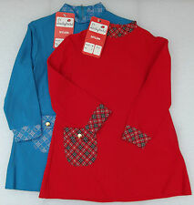 Vintage childrens clothes Age 3 4 5 LADYBIRD Nylon dress tartan Red