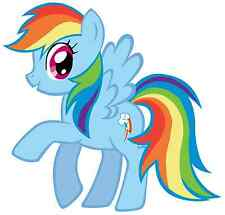 """5-9"""" MY LITTLE PONY RAINBOW DASH  WALL STICKER GLOSSY BORDER CHARACTER CUT OUT"""