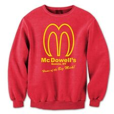 MCDOWELLS funny cool retro comedy movie big mick awesome MENS SWEAT-SHIRT RED