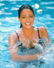 OLIVIA HUSSEY BUSTY IN SWIMMING POOL COLOR PHOTO OR POSTER