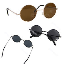 Retro Black Lens Vintage Men Women Round Metal Frame Sunglasses Glasses Eyewear