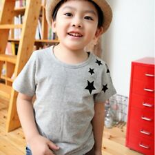 Children Kids Boys Short-Sleeved Korean Version Star Pattern Cotton T-shirt 2-7Y