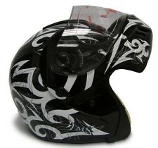 Black Modular Flip Up Full Face Motorcycle Helmet DOT~S,M,L,XL,XXL