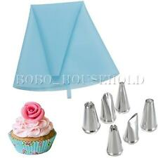 1Pcs Decorating Tool New Reusable Piping Bag With 6 Icing Nozzle Cake Fondant