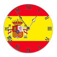 Spain Flag 19cm Wall Clock Gift Boxed World Cup Spanish Madrid Choose Style NEW