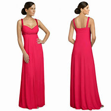 Glittery & Elegant Beaded Formal Evening Gown Bridesmaid Dress Hot Pink